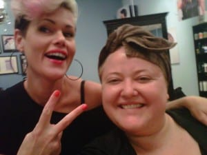 "The Lovely and Talented Sam says: ""Peace Out"" to my dull, yellow hair."
